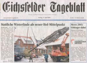 Stattliche Winterlinde als neuer Hof-Mittelpunkt